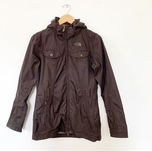 The North Face Brown WaterProof Hooded Trench Coat
